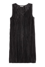 Pleated dress - Black - Ladies | H&M 2