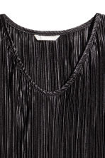 Pleated dress - Black - Ladies | H&M CN 3