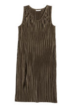 Pleated dress - Dark Khaki - Ladies | H&M 2