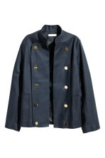 Cotton jacket - Dark blue -  | H&M CA 2