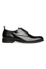Leather Derby shoes - Black - Men | H&M 2