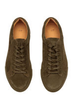Suede trainers - Khaki brown - Men | H&M CN 3