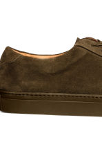 Suede trainers - Khaki brown - Men | H&M 4