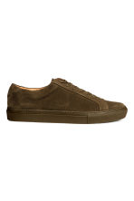 Suede trainers - Khaki brown - Men | H&M CN 2