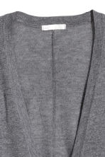 Fine-knit cardigan - Dark grey marl - Ladies | H&M 3