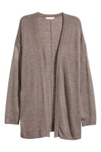 Fine-knit cardigan - Dark beige marl - Ladies | H&M 2
