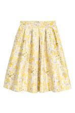 Jacquard-weave skirt - Light beige/Floral - Ladies | H&M CN 2