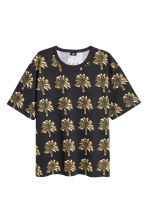Patterned T-shirt - Black/Palms - Men | H&M 2