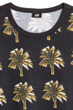 Patterned T-shirt - Black/Palms - Men | H&M 3