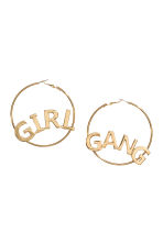 Large hoop earrings - Gold - Ladies | H&M CN 1