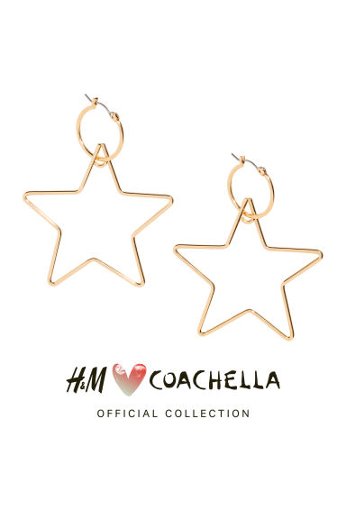 Star-shaped hoop earrings - Gold/Stars - Ladies | H&M 1