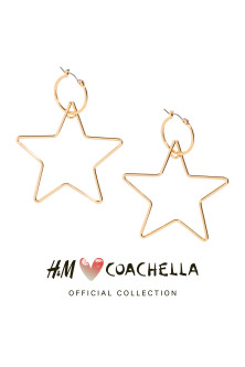 Star-shaped hoop earrings