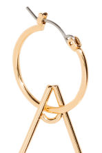 Star-shaped hoop earrings - Gold/Stars - Ladies | H&M 3
