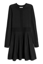Knitted dress - Black -  | H&M 2