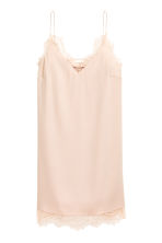 Slip dress met kant - Poeder -  | H&M BE 2