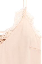 Slip dress with lace - Powder - Ladies | H&M 3