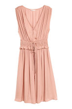 V-neck dress - Powder pink - Ladies | H&M CN 2
