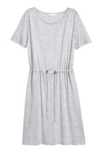 Jersey dress with a drawstring - Light grey marl - Ladies | H&M 2