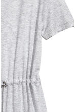 Jersey dress with a drawstring - Light grey marl - Ladies | H&M 3