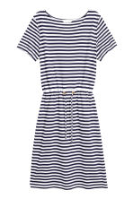 Jersey dress with a drawstring - Dark blue/Striped - Ladies | H&M 2
