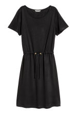 Abito in jersey con coulisse - Nero - DONNA | H&M IT 2