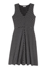 Sleeveless silk dress - Black/Spotted - Ladies | H&M CN 2