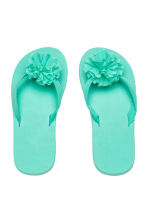 Flip-flops with appliqué - Mint green - Kids | H&M CA 1