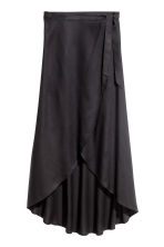 Long wrapover skirt - Black - Ladies | H&M CN 2