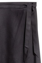 Long wrapover skirt - Black - Ladies | H&M CN 3