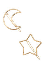 2-pack hair clips - Gold - Ladies | H&M CN 2