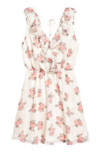 Crêpe dress - Natural white/Floral - Ladies | H&M CN 2
