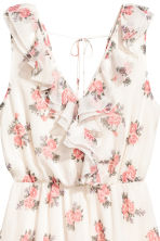Crêpe dress - Natural white/Floral - Ladies | H&M 3