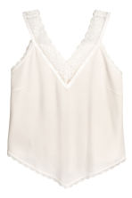 V-neck top - Natural white -  | H&M IE 2
