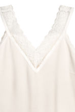 V-neck top - Natural white -  | H&M IE 3