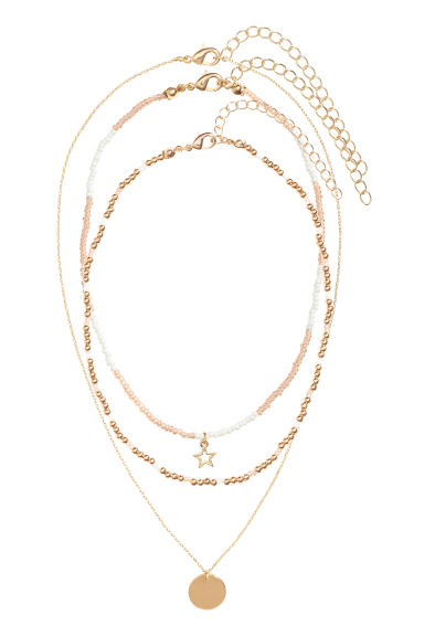 3-pack chokers - Gold - Ladies | H&M GB