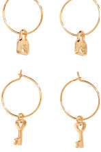 3 pairs hoop earrings - Gold - Ladies | H&M 2
