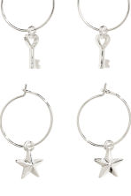 3 pairs hoop earrings - Silver - Ladies | H&M 2