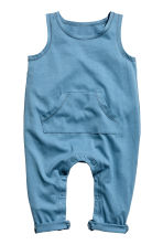 Sleeveless jersey romper - Blue - Kids | H&M 1