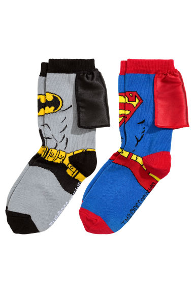 2-pack socks - Grey Batman/Superman - Kids | H&M 1
