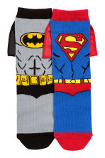 2-pack socks - Grey Batman/Superman - Kids | H&M 2