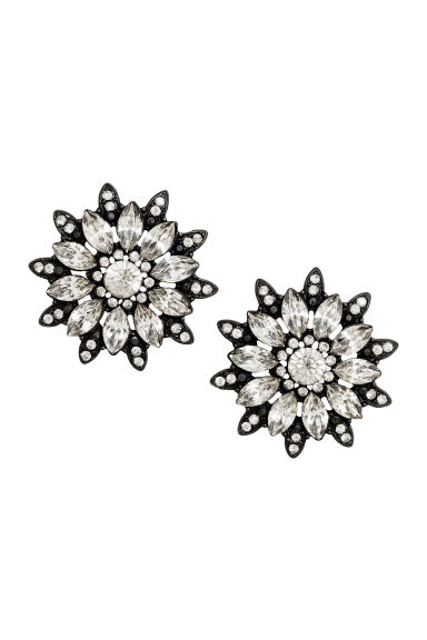 Sparkly earrings - Black - Ladies | H&M 1