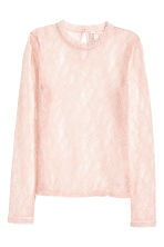 Fitted lace top - Powder pink - Ladies | H&M CN 2