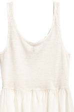 Long vest top - Natural white - Ladies | H&M CN 3
