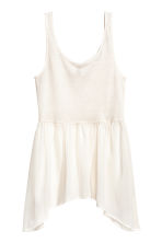 Long vest top - Natural white - Ladies | H&M CN 2