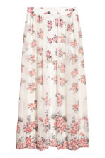 Shorts with a long skirt - Natural white/Floral - Ladies | H&M 2