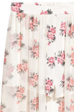 Shorts with a long skirt - Natural white/Floral - Ladies | H&M CN 3