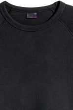 Short-sleeved scuba sweatshirt - Black - Men | H&M 4