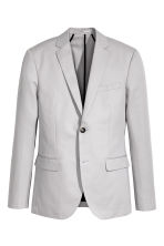 Linen-blend jacket Slim fit - Light grey - Men | H&M 2