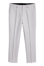 Linen-blend trousers Slim fit - Light grey - Men | H&M 2
