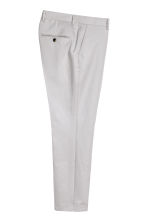 Linen-blend trousers Slim fit - Light grey - Men | H&M 3